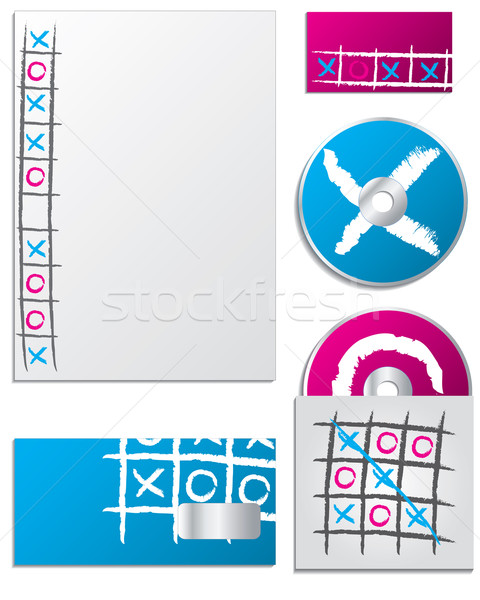 Tic tac toe company business set Stock photo © vipervxw