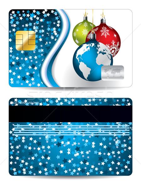 Credit card design christmas edition Stock photo © vipervxw