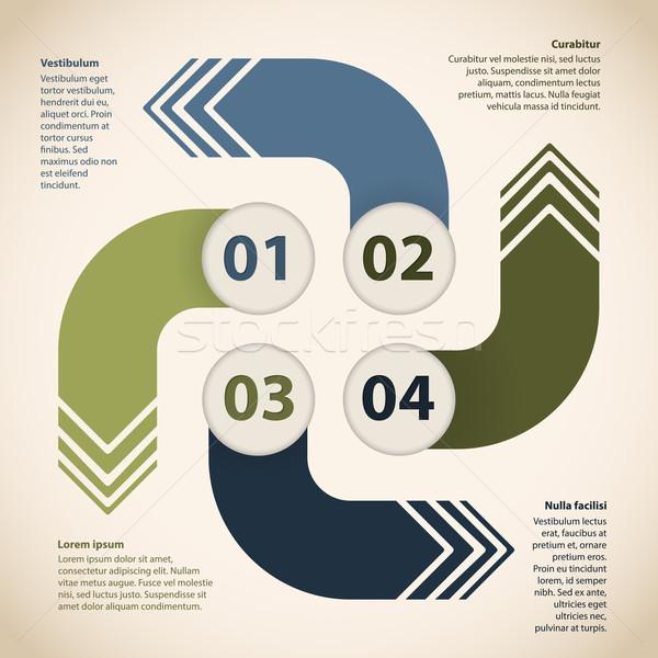 Infografía diseno cuatro flechas opciones resumen Foto stock © vipervxw