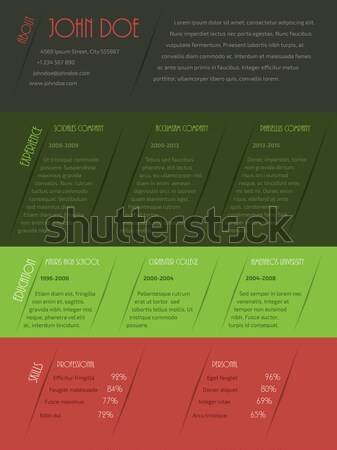 Cool cv resume template design Stock photo © vipervxw