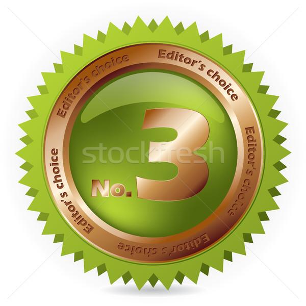Escolha lugar verde bronze distintivo terceiro Foto stock © vipervxw
