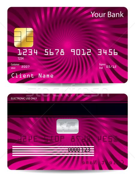 Cool credit card design  Stock photo © vipervxw