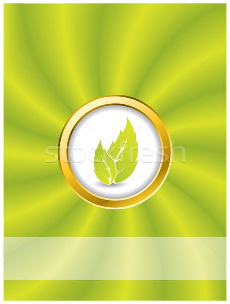 Bio ring with swirling green background Stock photo © vipervxw
