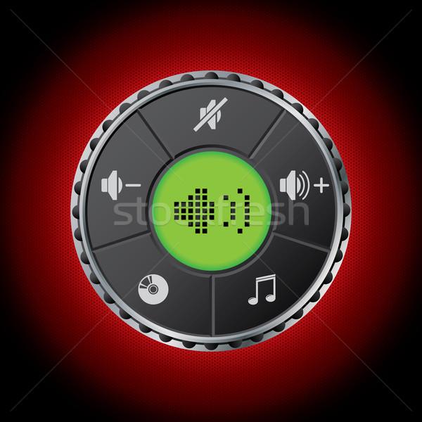 Volume contrôle LCD écran hexagone Photo stock © vipervxw
