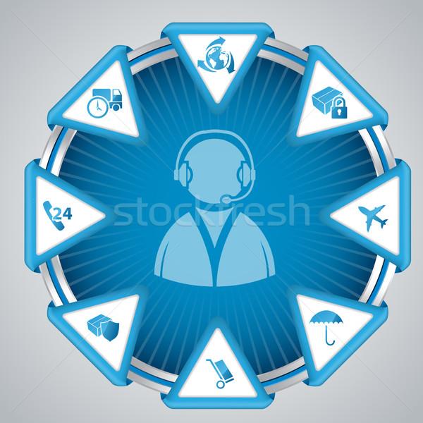 Infographic design with call center symbol Stock photo © vipervxw