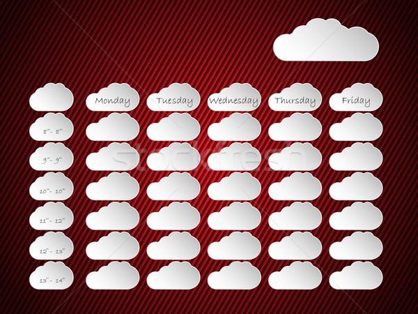 Horário projeto nuvem formas listrado papel Foto stock © vipervxw