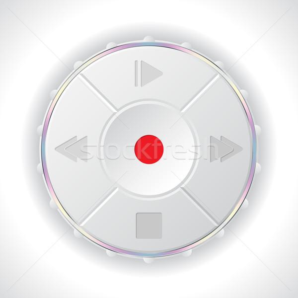 Volume panneau de commande blanche joueur boutons icônes Photo stock © vipervxw