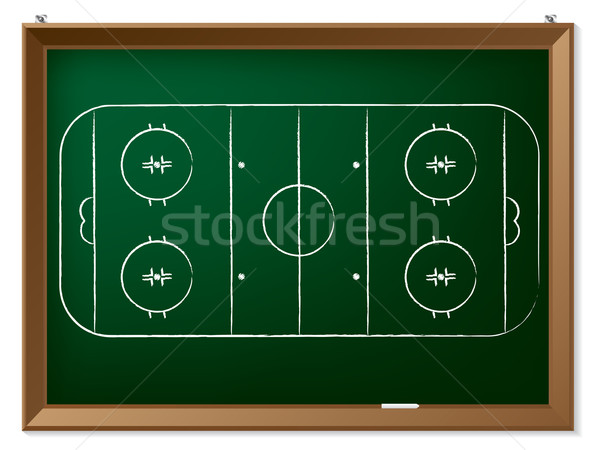 Ice hockey field drawn on chalkboard  Stock photo © vipervxw