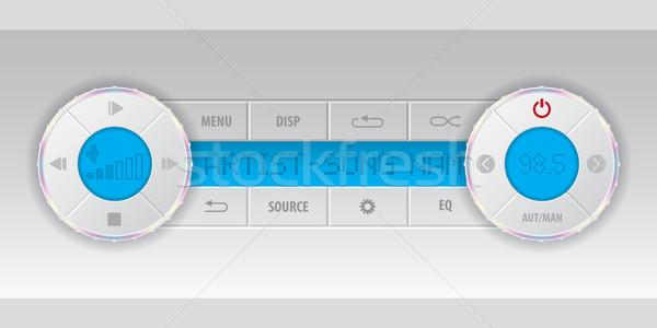 Kaart mp3-speler dashboard Blauw lcd muziek Stockfoto © vipervxw