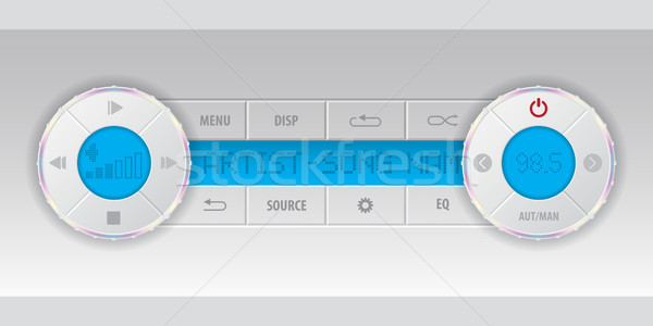 карт mp3-плеер приборная панель синий ЖК музыку Сток-фото © vipervxw