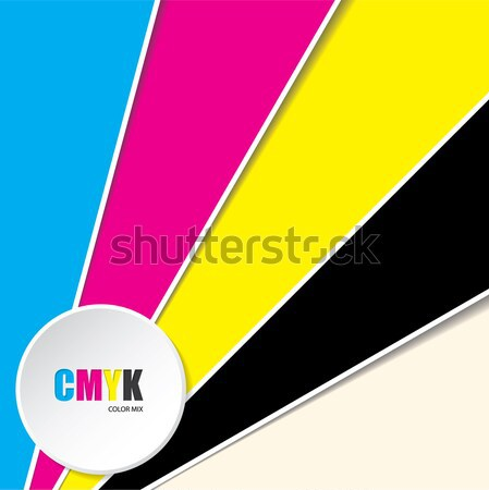 Abstract background with CMYK text Stock photo © vipervxw