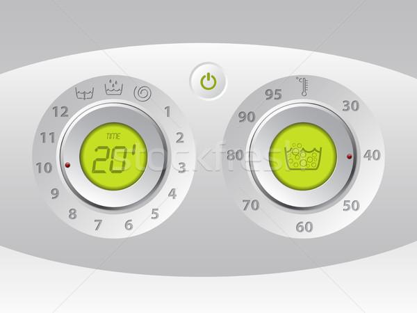 洗浄 マシン マニュアル デジタル コントロールパネル 緑 ストックフォト © vipervxw