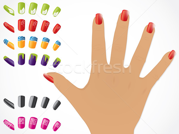 Female hand with painted nails Stock photo © vipervxw