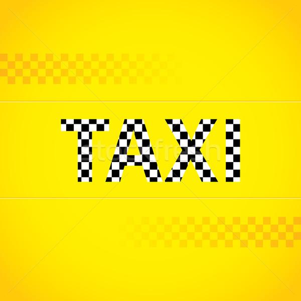 Taxi background design Stock photo © vipervxw