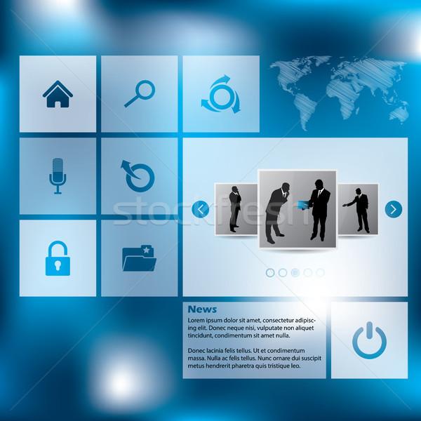 New style website template design Stock photo © vipervxw