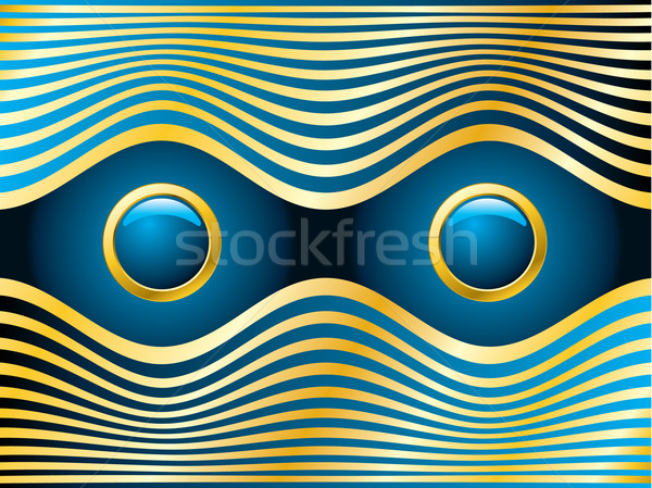 Dorado ojos azules resumen oro ola moda Foto stock © vipervxw