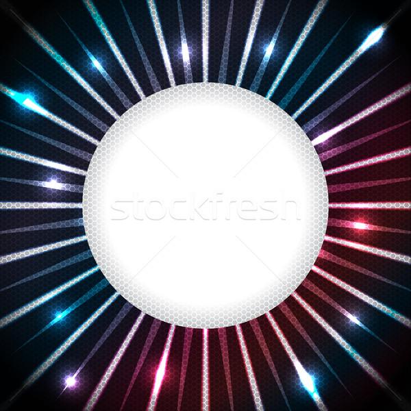 Abstrakten Plasma weiß Raum Design Text Stock foto © vipervxw