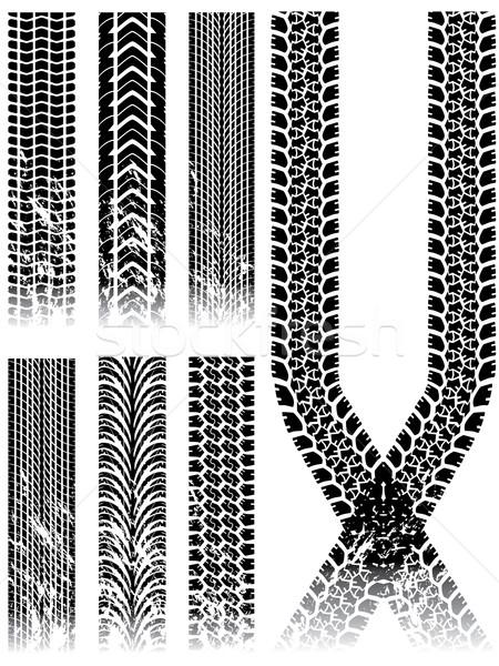 Grunge band track collectie witte Stockfoto © vipervxw