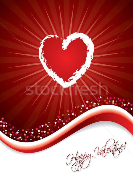 Bursting heart design  Stock photo © vipervxw