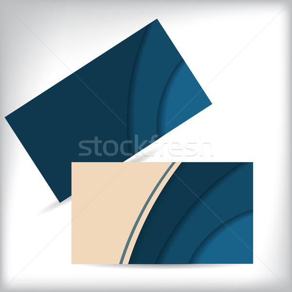 визитной карточкой дизайна волновая картина назад бумаги Сток-фото © vipervxw