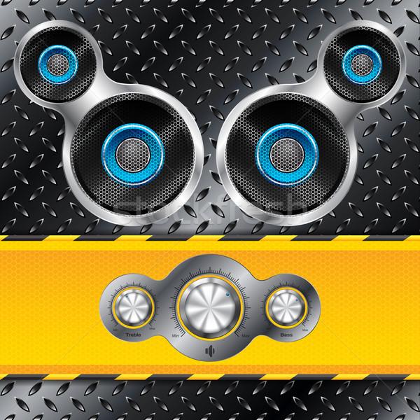 Shiny control deck with speakers Stock photo © vipervxw