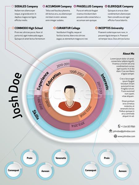 Cool modern curriculum vitae resume design  Stock photo © vipervxw