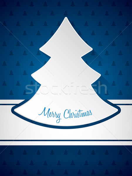 Christmas greeting with christmastree pattern background  Stock photo © vipervxw