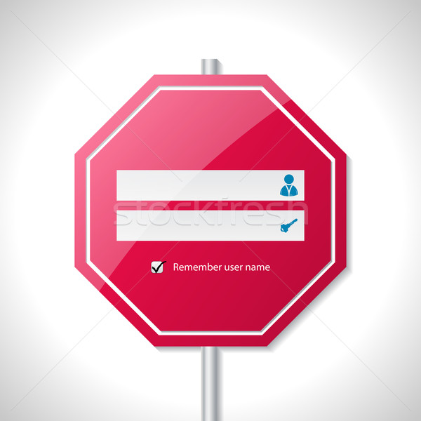 Stop sign inspired login screen  Stock photo © vipervxw
