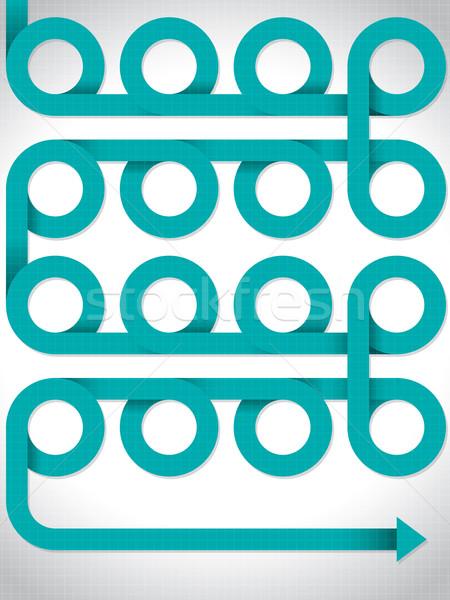 Görbület nyíl minta terv fehér papír Stock fotó © vipervxw
