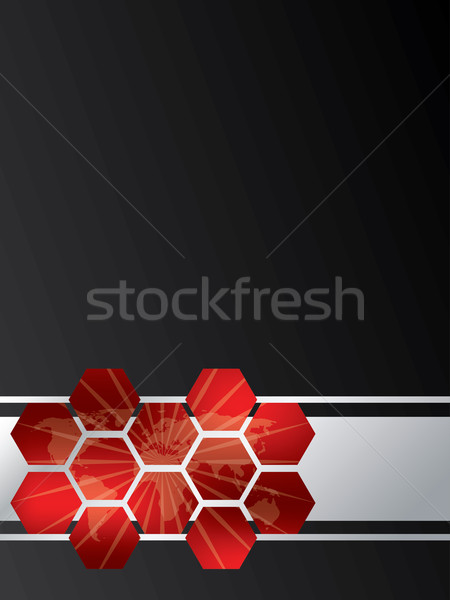 Hexagon map brochure design Stock photo © vipervxw
