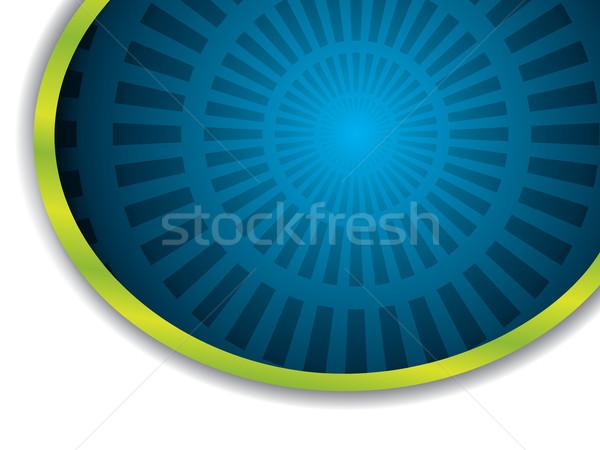 Blau Burst grünen Ring dunkel Schatten Stock foto © vipervxw