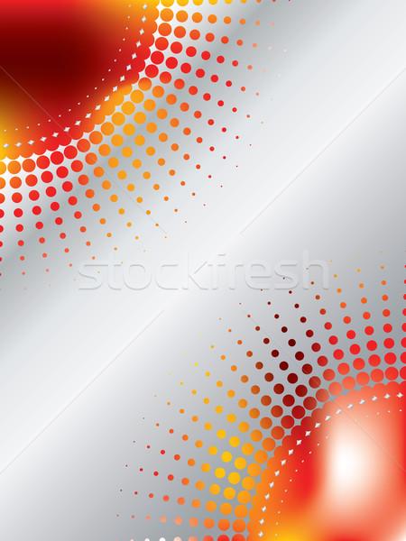 Halftone design with magma-like background Stock photo © vipervxw