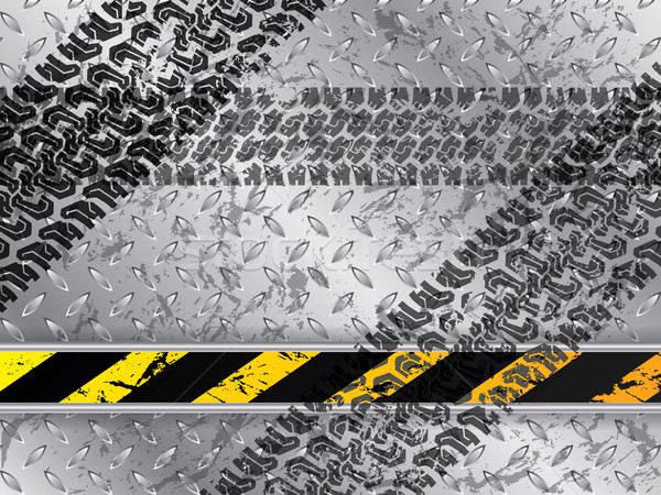 Abstract background with tire tracks Stock photo © vipervxw