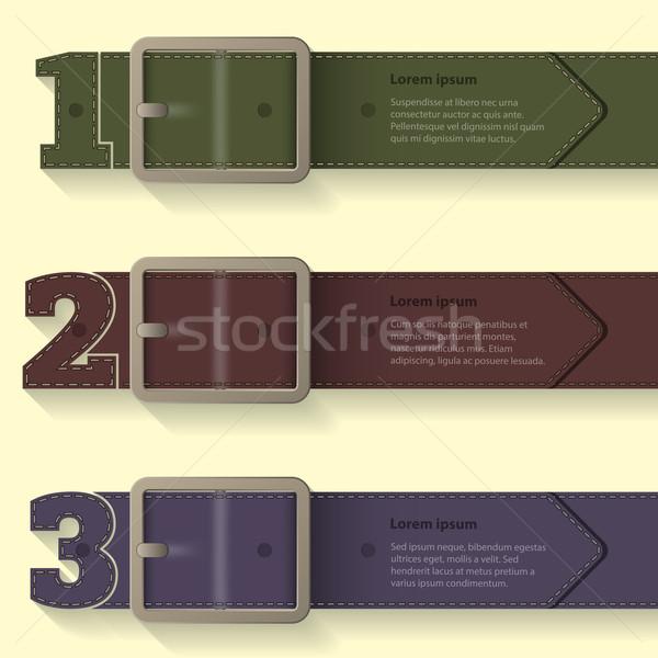 Belt buckle infographic background design Stock photo © vipervxw