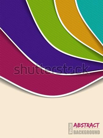 Abstract colore onda brochure design strisce Foto d'archivio © vipervxw