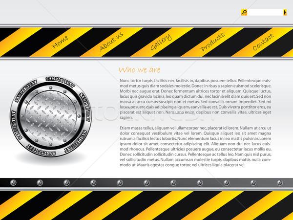 Cool hazardous website template design  Stock photo © vipervxw