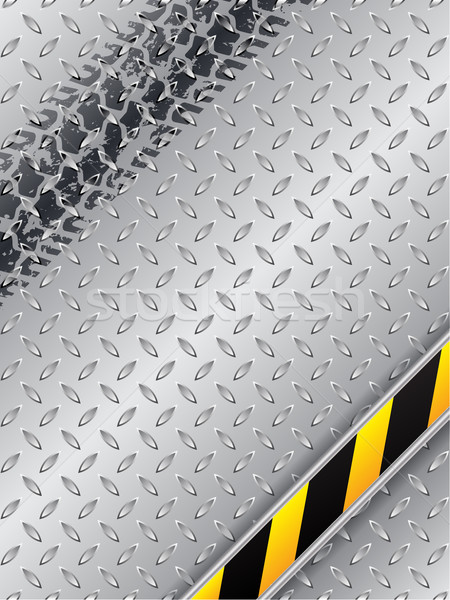 Abstract industrial design with grunge tire track Stock photo © vipervxw