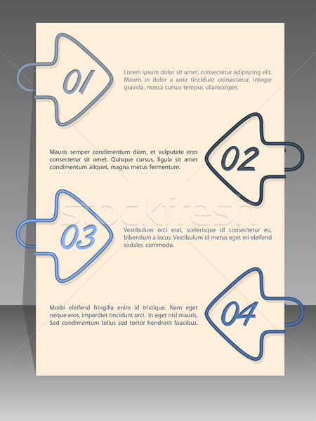 Arrow binding clip infographic with sample text Stock photo © vipervxw