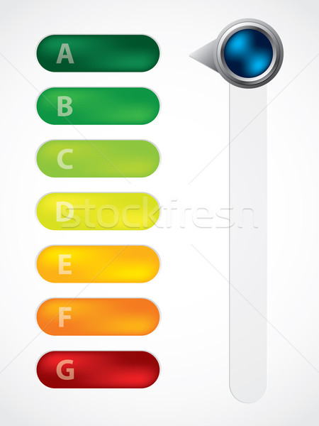 Energy class display with adjustable button Stock photo © vipervxw