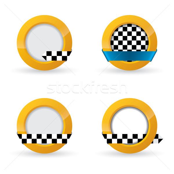 Taxi icon designs Stock photo © vipervxw