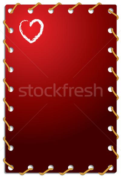 Roped Valentine card  Stock photo © vipervxw