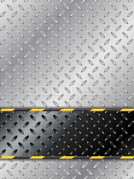 Customizable industrial background design with metallic plate Stock photo © vipervxw