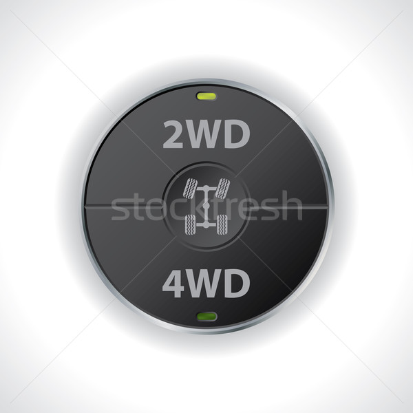 2wd and 4wd button switches Stock photo © vipervxw