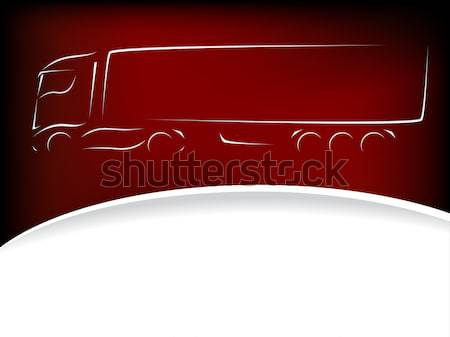 Truck advertisement wallpaper Stock photo © vipervxw
