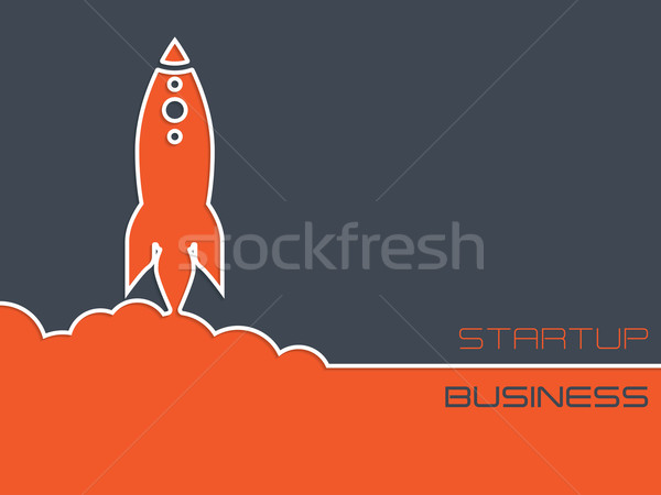 Simplistic startup business background with rocket Stock photo © vipervxw
