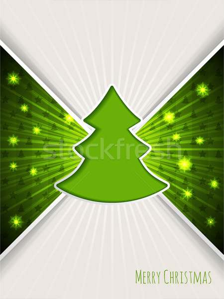Christmas greeting with bursting green christmas tree Stock photo © vipervxw