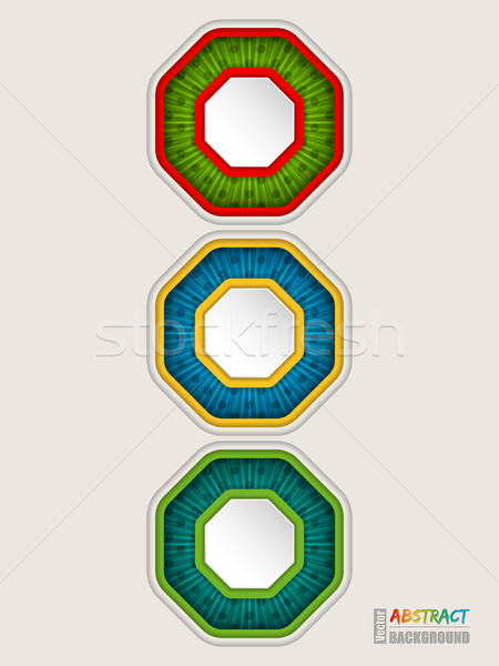 Abstract colorful traffic light concept background Stock photo © vipervxw