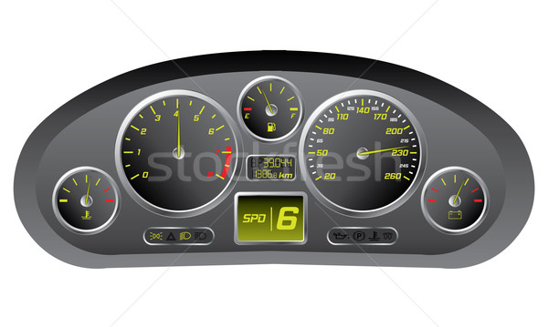 Sports car dashboard  Stock photo © vipervxw