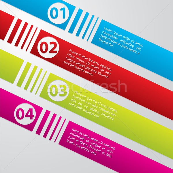 Striped commercial label set Stock photo © vipervxw