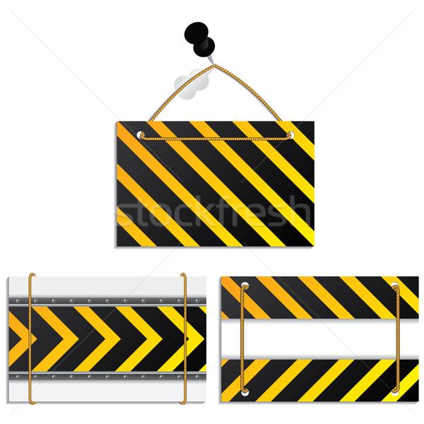 Cool construction textured label set  Stock photo © vipervxw